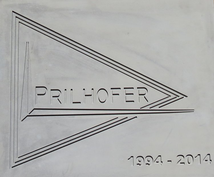 Prilhofer logo made with precast concrete
