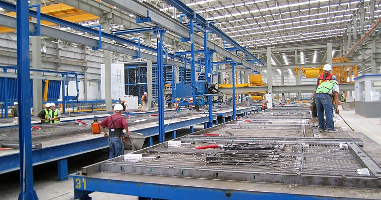 Production optimization by increasing efficiency in a precast plant