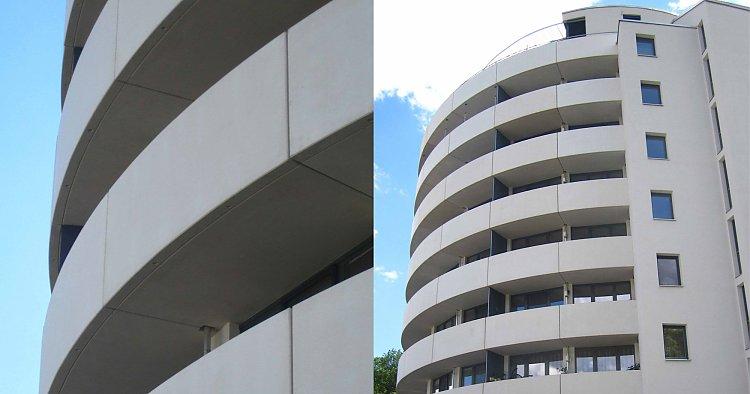 Sthetisch ansprechende h user mit betonfertigteilen for Modern bauen obergrafendorf