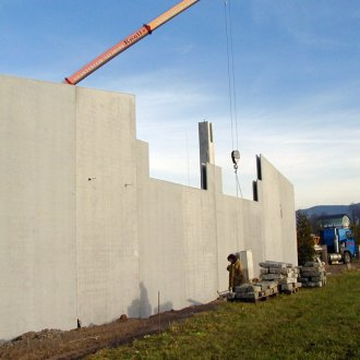Building site precast concrete industrial construction
