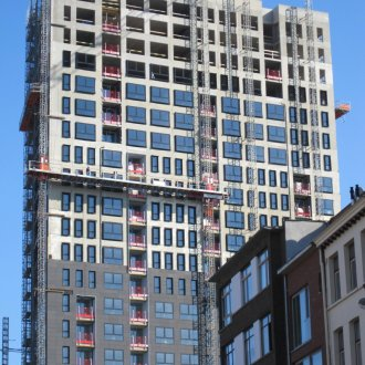 High-rise building made with precast in Belgium<br />