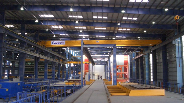Pallet carousel system for precast elements in Dubai