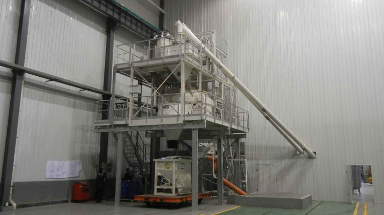 Mixing plant for ultra-high performance concrete