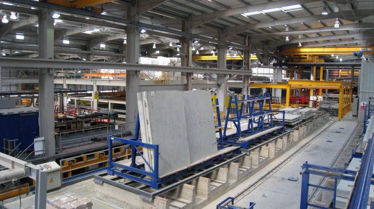 Pallet carousel system for precast elements in Ireland