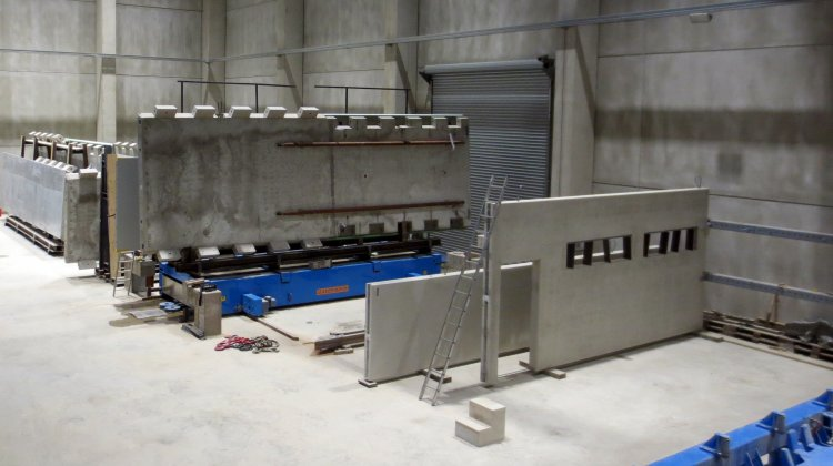 Precast concrete elements for wind power plants