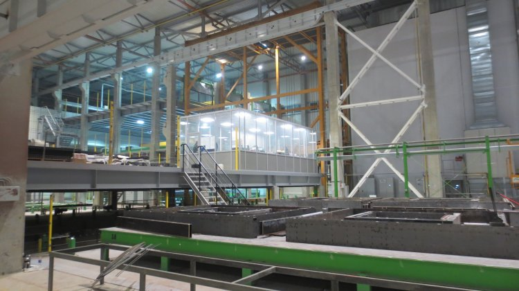 State-of-the-art pallet carousel system for precast production