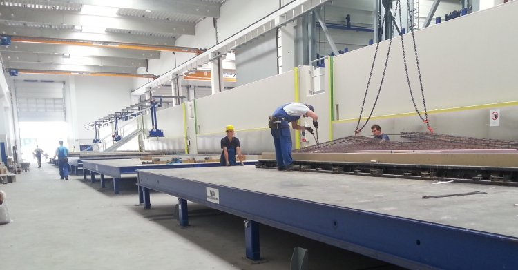 Habau - Modernization of a pallet carousel system for precast concrete