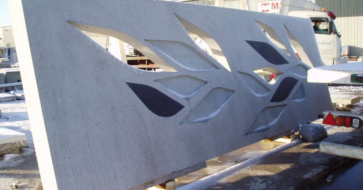 Quality and precision - Architectural concrete decorated facade facade element
